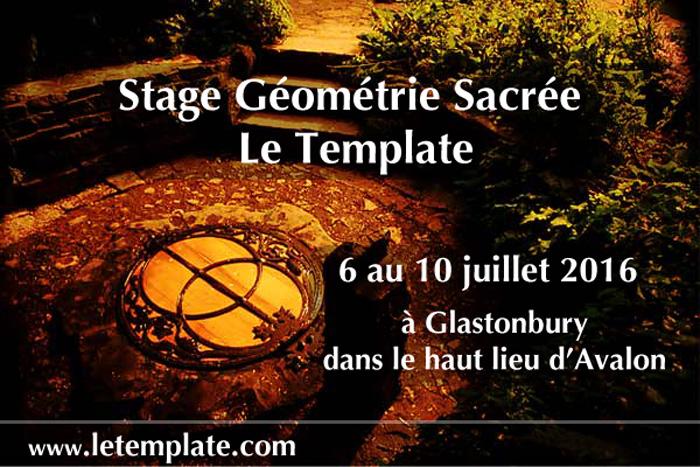 Stage Géométrie Sacrée Le Template en Avalon_poster